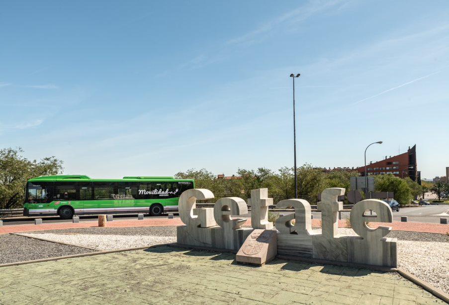 La Comunidad de Madrid realiza una prueba piloto con un autobús urbano 100% eléctrico en Getafe